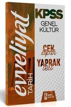 İsem Yayınları KPSS Tarih Evveliyat Çek Kopart Yaprak Test