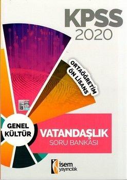 İsem Yayınları 2020 KPSS Ortaöğretim Önlisans Vatandaşlık Soru Bankası