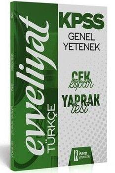 İsem Yayınları KPSS Türkçe Evveliyat Çek Kopart Yaprak Test