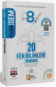 İsem Yayınları 8. Sınıf LGS Fen Bilimleri Farklı İsem 20 li Sarmal Deneme