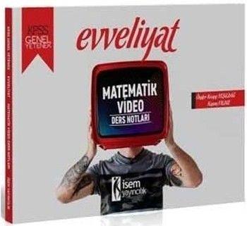 İsem Yayınları 2020 KPSS Evveliyat Matematik Video Ders Notları