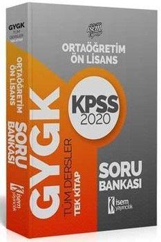 İsem Yayınları 2020 KPSS Ortaöğretim Önlisans Tüm Dersler Tek Kitap Soru Bankası