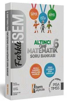 İsem Yayınları 6. Sınıf Matematik Farklı İsem Soru Bankası