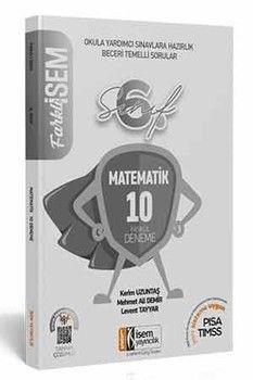 İsem Yayınları 6. Sınıf Matematik Farklı İsem Tamamı Çözümlü 10 Fasikül Deneme