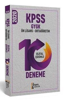 İsem Yayınları 2020 KPSS Ortaöğretim Ön Lisans Genel Yetenek Genel Kültür 10 Deneme