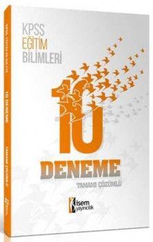 İsem Yayınları KPSS Eğitim Bilimleri Tamamı Çözümlü 10 Deneme
