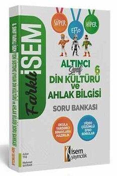 İsem Yayınları 6. Sınıf Din Kültürü ve Ahlak Bilgisi Farklı İsem Soru Bankası
