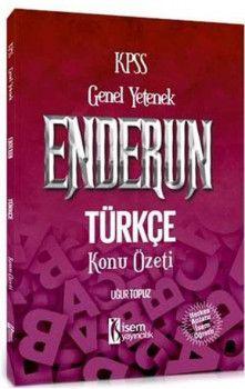 İsem Yayınları 2018 KPSS Enderun Türkçe Konu Özeti
