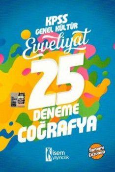 İsem Yayınları 2018 KPSS Evveliyat Coğrafya Tamamı Çözümlü 25 Deneme