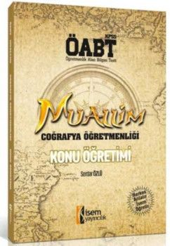 İsem Yayınları 2018 KPSS ÖABT Muallim Coğrafya Konu Öğretimi