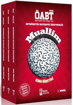 İsem Yayınları 2018 ÖABT Muallim Ortaöğretim Matematik Öğretmenliği Konu Anlatımlı Modüler Set