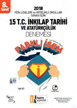 İsem Yayınları 8. Sınıf T.C. İnkılap Tarihi ve Atatürkçülük 15 Deneme