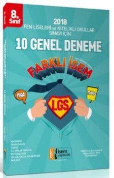 İsem Yayınları 8. Sınıf LGS Fen Liseleri ve Nitelikli Okullar Sınavı İçin Tüm Dersler 10 Deneme Sınavı