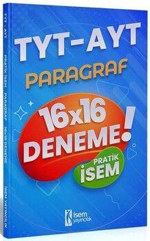 İsem Yayınları 2021 TYT AYT Pratik İsem Kazandıran Paragraf 16x16 Deneme