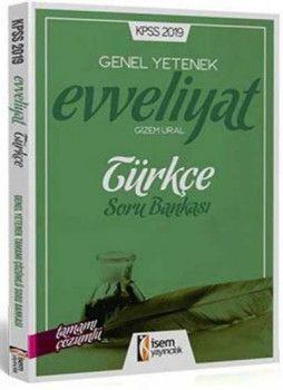 İsem Yayınları 2019 KPSS Evveliyat Türkçe Tamamı Çözümlü Soru Bankası