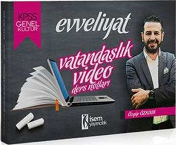 İsem Yayınları KPSS Evveliyat Vatandaşlık Video Ders Notları