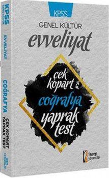 İsem Yayınları KPSS Evveliyat Coğrafya Çek Kopart Yaprak Test