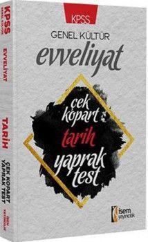 İsem Yayınları KPSS Evveliyat Tarih Çek Kopart Yaprak Test