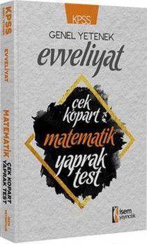 İsem Yayınları KPSS Evveliyat Matematik Çek Kopart Yaprak Test