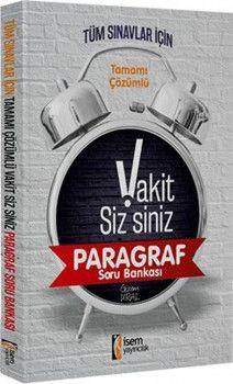 İsem Yayınları Tüm Sınavlar İçin VakitSizsiniz Paragraf Soru Bankası