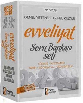 İsem Yayınları 2019 KPSS Evveliyat GY GK Tamamı Çözümlü Soru Bankası Seti