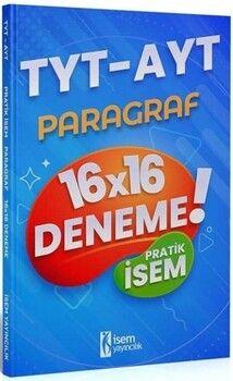 İsem Yayınları2021 TYT AYT Pratik İsem Kazandıran Paragraf 16x16 Deneme