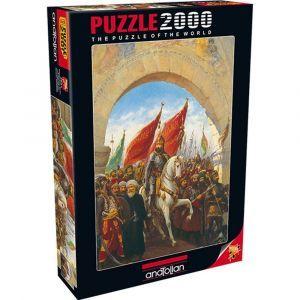 İstanbul\'un Fethi  Entering to Constantinople 2000 Parça Puzzle - Yapboz