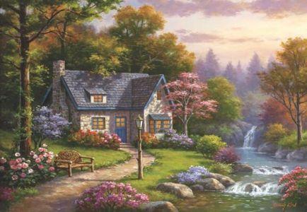 Şelaleli Konak Stonybrook Falls Cottage 2000 Parça Yapboz