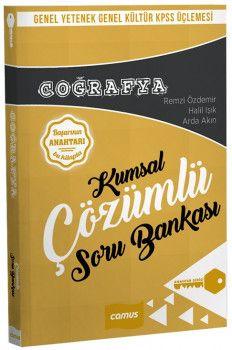 Camus Yayınları KPSS Genel Yetenek Genel Kültür Coğrafya Kumsal Çözümlü Soru Bankası