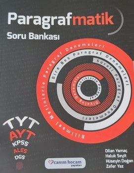 Canım Hocam Yayınları TYT AYT KPSS Paragrafmatik Soru Bankası