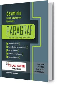 Celal Aydın Yayınları TYT AYT KPSS DGS MSÜ Paragraf Konu Anlatımlı Soru Kitabı