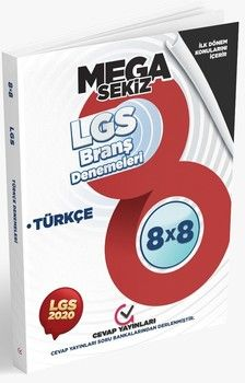 Cevap Yayınları 8. Sınıf LGS 1. Dönem Türkçe 8 x 8 Branş Denemeleri