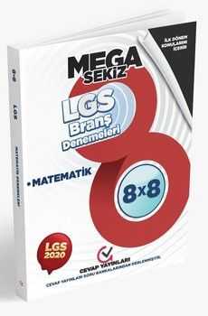 Cevap Yayınları 8. Sınıf LGS 1. Dönem Matematik 8 x 8 Branş Denemeleri