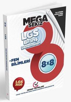 Cevap Yayınları 8. Sınıf LGS 1. Dönem Fen Bilimleri 8 x 8 Branş Denemeleri