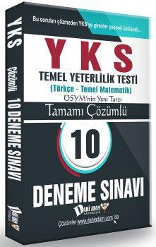 Dahi Adam Yayınları YKS 1. Oturum TYT Türkçe Temel Matematik Tamamı Çözümlü 10 Deneme Sınavı