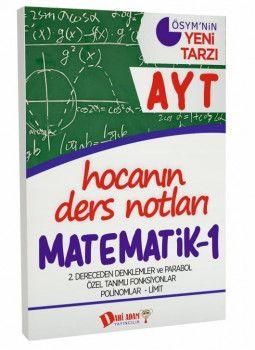 Dahi Adam Yayınları YKS 2. Oturum AYT Matematik 1 Hocanın Ders Notları