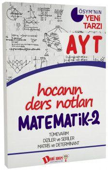 Dahi Adam Yayınları YKS 2. Oturum AYT Matematik 2 Hocanın Ders Notları
