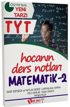 Dahi Adam Yayınları YKS 1. Oturum TYT Matematik 2 Hocanın Ders Notları