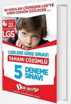 Dahi Adam Yayınları 8. Sınıf LGS Tamamı Çözümlü 5 Deneme Sınavı