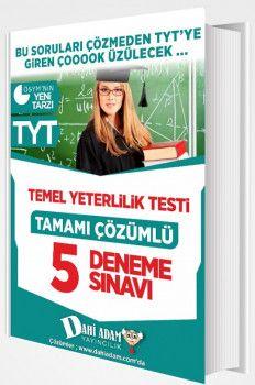 Dahi Adam Yayınları YKS 1. Oturum TYT Tamamı Çözümlü 5 Deneme Sınavı