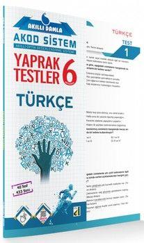 Damla Yayınları 6. Sınıf Türkçe Akıllı Damla Yaprak Testler