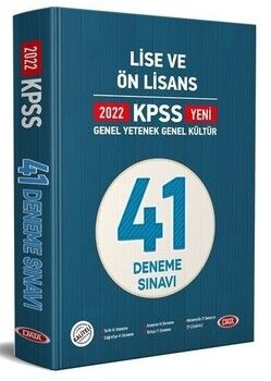 Data 2022 KPSS Lise Ön Lisans GYGK 41 Deneme