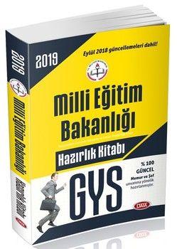 Data Yayınları 2019 GYS Milli Eğitim Bakanlığı Memur ve Şefler için Hazırlık Kitabı