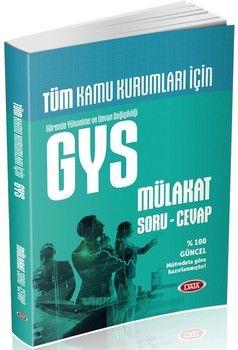 Data Yayınları 2019 Data Tüm Kamu Kurumları GYS Mülakat Soru Cevap