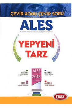 Data Yayınları 2018 ALES Çevir Konu Çevir Soru