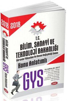 Data Yayınları 2018 GYS Bilim Sanayi ve Teknoloji Bakanlığı Konu Anlatımlı