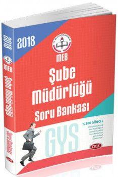 Data Yayınları 2018 GYS Milli Eğitim Bakanlığı Şube Müdürlüğü Soru Bankası