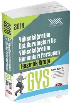 Data Yayınları 2018 GYG Yükseköğretim Üst Kuruluşları ile Yükseköğretim Kurumları Personeli GYS Hazırlık Kitabı