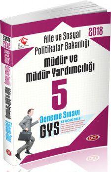 Data Yayınları 2018 GYS Aile ve Sosyal Politikalar Bakanlığı Müdür ve Müdür Yardımcılığı 5 Deneme