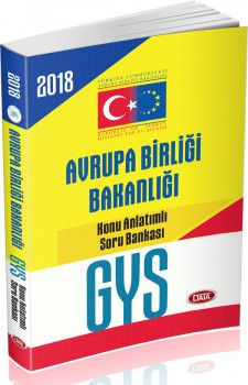 Data Yayınları 2018 GYS Avrupa Birliği Bakanlığı Görevde Yükselme Konu Anlatımlı Soru Bankası